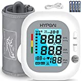 """Blood Pressure Monitor Upper Arm -Blood Pressure Monitor Large Cuff (9"""" to 17"""") Automatic Upper Arm Machine for Home use-198 Memory & 2 Users Mode-Alarm-2.4' LCD Display-Includes Batteries (White)"""