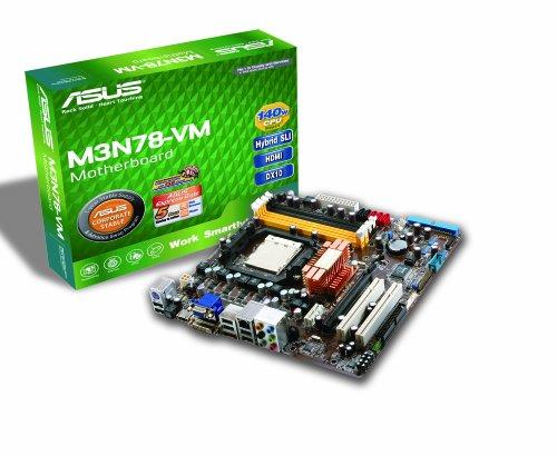 ASUS M3N78-VM Micro-ATX Mainboard (Sockel AM2/AM2 Plus, on board VGA (512 MB), HT3 5200 MHz FSB)