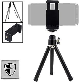 GearFend Mini Stativ mit ausziehbaren Beinen für Logitech Webcam C920 C922 und kleine Kameras, 14 cm, mit Universal Smartphone Halterung und Mikrofasertuch