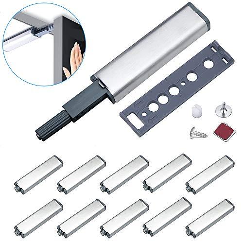 Drucktüröffner Magnetschnäpper Jiayi 10 Stück Druckschnapper Magnet Türschließer Stark Push to Open Tür Magnetverschluss Schranktüren Drucköffner Schublade Möbelmagnete Türdämpfer