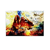 LOPEA Depositphotos_82995916-stock-photo-little-leon-cub-head-animal Carteles para dormitorio 50x75cm
