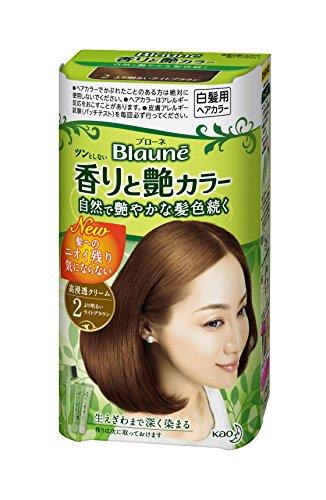 【クリームタイプ】ブローネ 香りと艶カラークリーム 2より明るいライトブラウン
