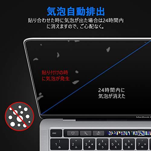 TOWOOZMacbookPro/MacbookAirフィルム13インチM1チップモデルPET製超薄99%高透過率高光沢2016-2020MacbookPro/MacbookAirフィルム目に優しい指紋防止2枚入り