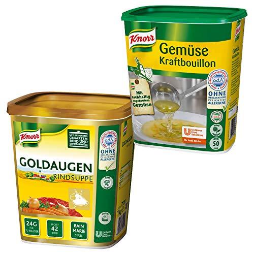 Knorr Notvorrat Bouillons und Brühen - Goldaugen Rindsuppe und Gemüse Bouillon von Knorr
