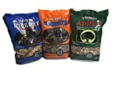 Western Perfect BBQ Smoking Wood Chips Variety Pack - Bundle (3) - Most Popular Flavors - Apple,...