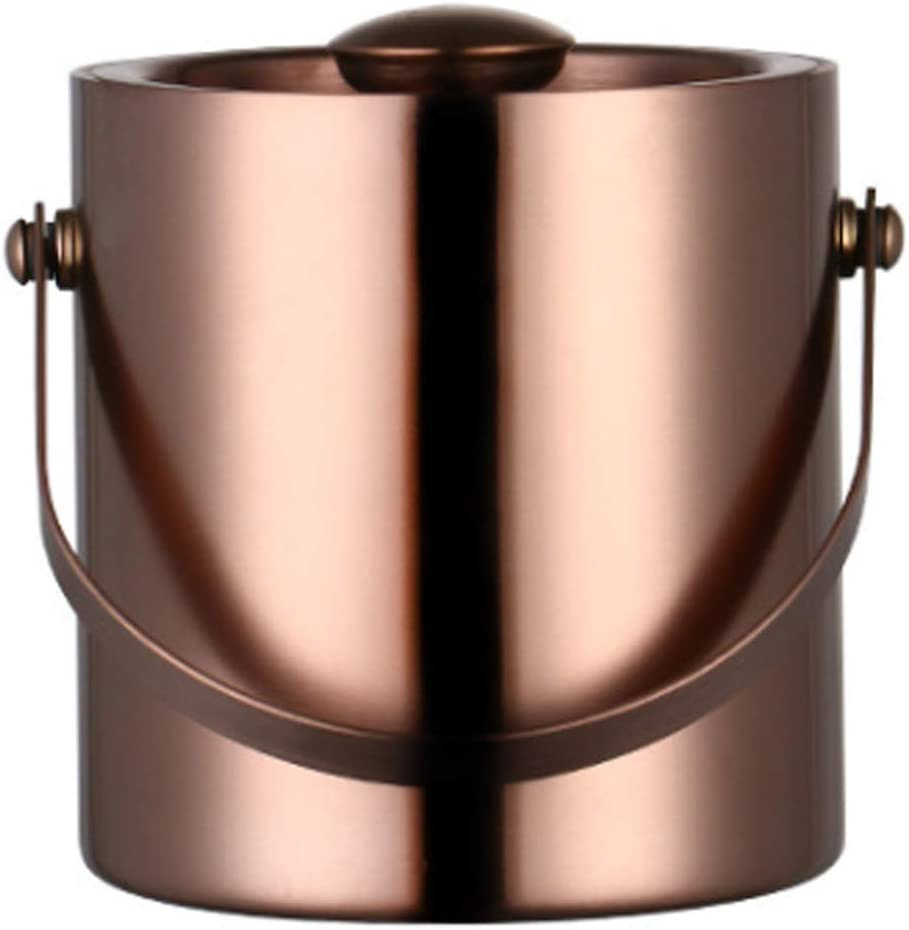 ESGT Ice Bucket Max 43% OFF Stainless Fashion Handle Insulat with Steel