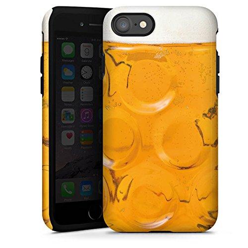 DeinDesign Panzer Handyhülle kompatibel mit Apple iPhone 7 robuste Outdoor Hülle Schutzhülle glänzend Bier Glas Oktoberfest