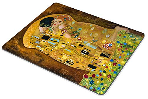 Smooffly Computer Mouse Pad Custom,Gustav Klimts The Kiss Mousepad Non-Slip Rubber Gaming Mouse Pad Rectangle Mouse Pads Photo #5