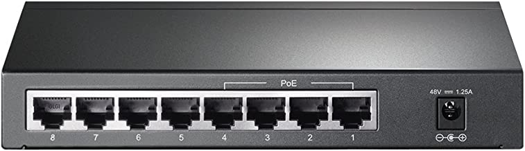 TP-Link 8 Port Poe Gigabit Switch | 4 Port Poe 55W | 802.3AF Compliant | Shielded Ports |..