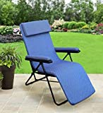Spacecrafts Recliner Folding Easy Chair (NEC, Blue)