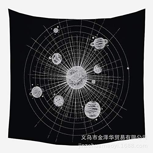 QNMSTJ Tapestry,Schwarz Und Weiß Einfache Lineare Dots, Kunst An Der Wand Home Decor Fabric, Strandtuch Yoga Matte, Für Schlafzimmer Dorm Wohnzimmer