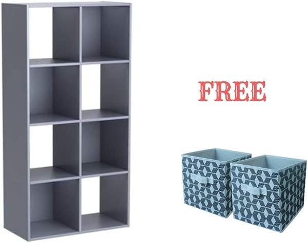 Mainstay Cube Storage Organizer 8 Cube Gray
