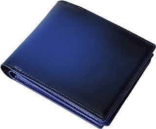 [Mr.CROWN] 財布 メンズ 二つ折り ヌメ革 グラデーション 本革 一流の革職人が作る