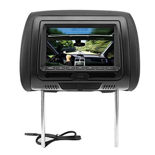 """Ballylelly Universal 7\""""Poggiatesta Car Dvd Player Nero Car Dvd/USB/HDMI Poggiatesta Auto Monitor con Giochi Disc Altoparlanti Interni"""