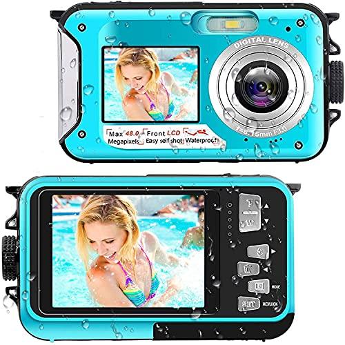 Unterwasserkamera Full HD 2.7K 48MP...