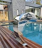Cascande - Fuente de piscina (acero inoxidable 316), diseño de delfín con...
