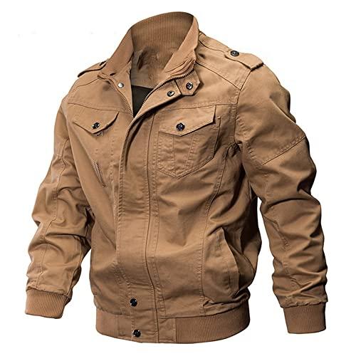 NP Chaquetas casuales de los hombres otoño invierno ropa cremallera abrigo suelto