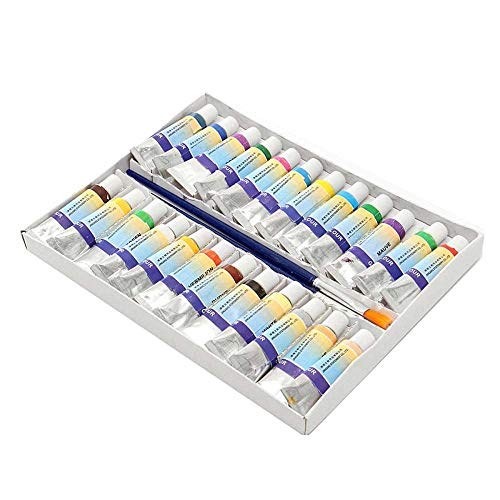 24 kleuren 5ml gouache aquarel acrylverf set, solide tube schilderij schilderij kunst levert verf