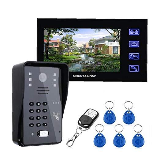 Sistema de intercomunicación de vídeo con conexión de cable timbre de la puerta de TFT Wifi ladrón de la seguridad de la cámara de alarma remota de tarjetas por deslizamiento de Control de Acceso