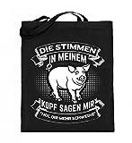 Chorchester per tutti coloro che hanno bisogno di più maiali. Sacchetto di iuta (con manici lunghi)., Nero (Nero ), 38cm-42cm