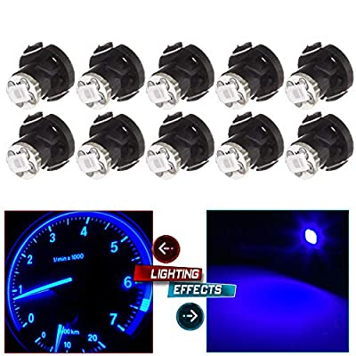CCIYU 10 Pack T4/T4.2 Neo Wedge 2835 SMD HVAC Climate Control LED Light Bulbs