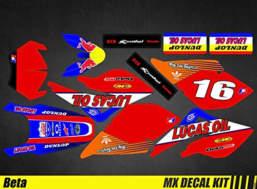 Kit Déco Moto para/MX Calcomanías Kit para Beta RR 50 - Lucas Aceite