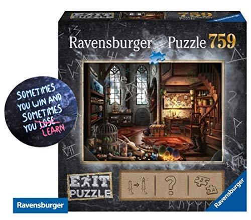 Collectix EXIT Im Drachenlabor - 759 Teile Ravensburger Puzzle 199549, ab 14 Jahren + 1 Cooler Sticker Sometimes You Win.. by gratis