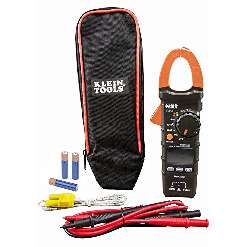 Klein Tools CL312 Digital Clamp Meter, HVAC Electrical Tester with TRMS, for AC Current, AC/DC Voltage, Resistance, Continuity, Temp, More