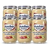 Nutribén Potitos De Guiso De Pollo Y Ternera con Judías Verdes, Desde los 6 Meses, Pack 6 x 235gr