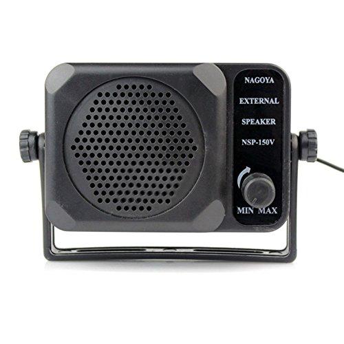 Braudel Mini Adjustable Volume External Speaker,3.5mm Jack - External CB Speaker,For Motorola/Kenwood/Yaesu/Midland/Icom/HYT/Mobile Transceiver,CB Radio