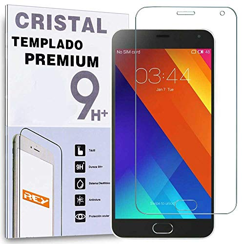 REY Protector de Pantalla para MEIZU M2 NoteCristal Vidrio Templado Premium