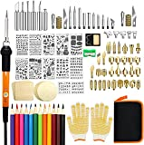 Wood Burning Kit, 110 Pieces Wood Burning Tool with Adjustable Temperature 200~420°C, Professional Pyrography Pen for Embossing Carving Soldering