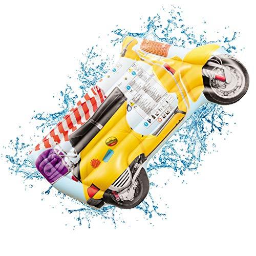 Mondo Toys 16728 Air Mat Jumbo Vintage Motorbike Luftmatratze Motorrad / Vespa Vintage - ideal für Meer, Strand, Schwimmbad, für Erwachsene und Kinder, 78 x 183 cm