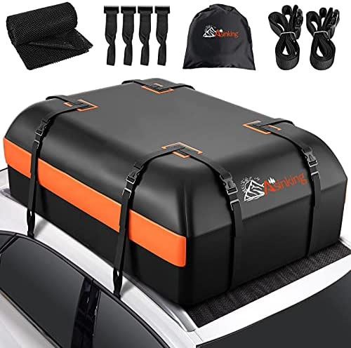 Asinking Car Rooftop Cargo Carrier Bag, 21 Cubic...