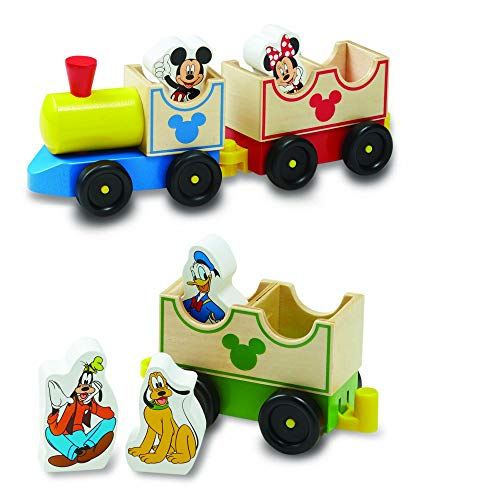 Melissa & Doug Mickey Mouse & Friends Wooden All Aboard Train