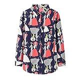 A-HXTM Camisa con Estampado de Moda Blusa de Mujer Blusas y Blusas de Manga Larga Camisa Casual de Estilo Largo Ropa de Dama 5XL se Aplica al Trabajo Negocios o Uso Diario etc.-XXXL_5