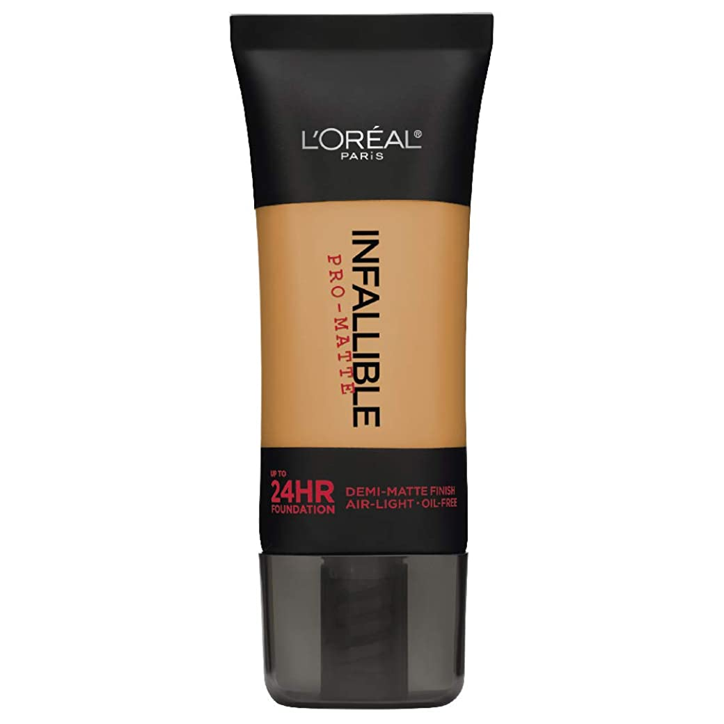 カプセル芽靴下L'Oreal Paris Infallible Pro-Matte Foundation Makeup, 110 Crème Café, 1 fl. oz[並行輸入品]