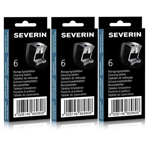 3x Severin Reinigungstabletten 6 Stk. für Kaffeevollautomaten ZB 8698