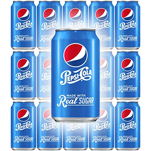 Pepsi Soda With Real Sugar, 12 Fl Oz Can (Pack of 15, Total of 180 Oz)