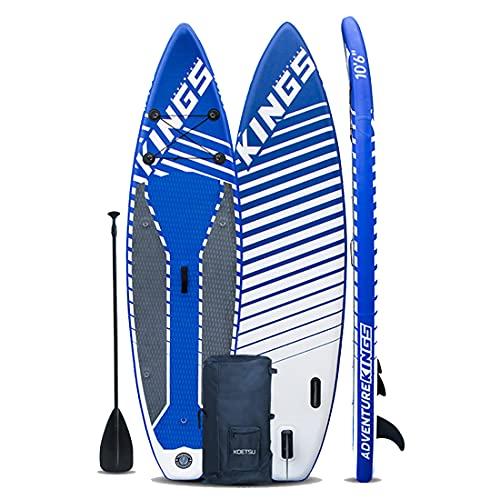 MXSXN Tabla Sup Hinchable Paddle Surf Isup Inflable Cubierta Antideslizante, Drybag Inflable, Caja del Teléfono Impermeable 320 Cm * 81 Cm * 15 Cm para Adultos Y Adolescentes