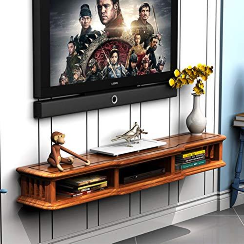 Meuble de télévision mural Console de télévision Étagère mural Étagère flottante Support de télévision Présentoir multifonctionnel Étagère de stockage multimédia (Couleur : C, taille : 100CM)