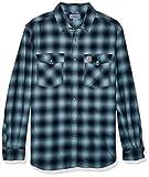 Carhartt Men's Size Big & Tall Rugged Flex Hamilton Snap Front Plaid Flannel, Twilight, X-Large/Tall