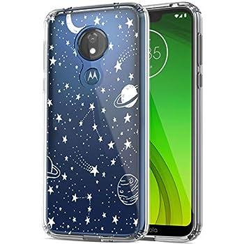 RANZ Moto G7 Power Case Motorola Moto G7 Supra Case Moto G7 Optimo Maxx Case Anti-Scratch Shockproof Series Clear Hard PC + TPU Bumper Protective Cover Case - Universe
