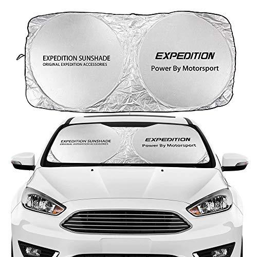 Coche Sun Shade Parasol Windshield del coche cubierta de la sombra del sol compatible con Ford C-Max EcoSport Edge Escape Expedition Explorer Fiesta Figo Flex Accesorios anti UV mascotas pueden estar