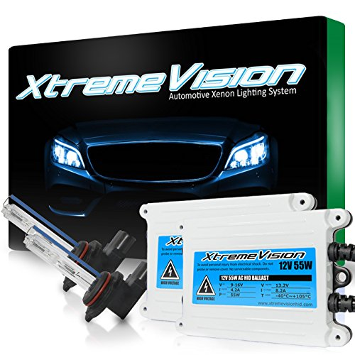 XtremeVision 55W AC Xenon HID Bundle with Slim AC Ballast (1 Pair) and 9012 10000K - 10K Dark Blue Xenon Bulbs (1 Pair)
