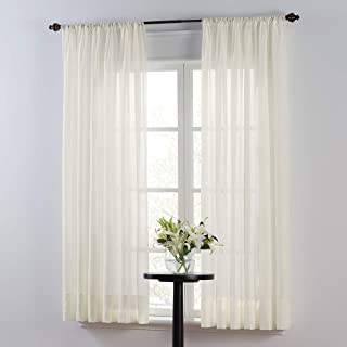 Smart Sheer Insulating Voile 84-Inch Window Curtain Panel in Ivory
