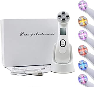 5 in 1 Face Lift Device Skin Tightening Machine for Wrinkle Remove Colorful Light EMS Facial Massager Multifunctional Skin...