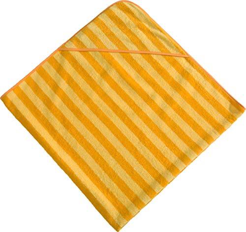 Morgenstern Kapuzenhandtuch 140x140 cm gelb / orange Frottier 100 % Baumwolle