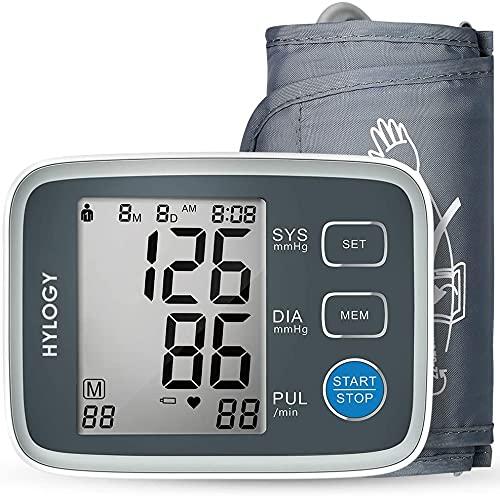Misuratore Pressione da Braccio Digitale, Sfigmomanometro da Braccio Pressione Arteriosa, Grande Schermo LCD, 2 * 90 Posizioni di Memoria (grigio) (GRIGIO)