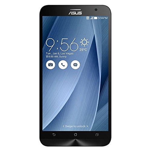 Asus ZenFone 2 Smartphone, Schermo da 5.5', Processore Quad Core 1,8 GHz, RAM 4 GB, 16 GB, Dual SIM, Argento